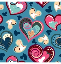 valentine seamless hearts pattern Hand drawn vector image vector image