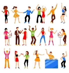 Disco Party Icons Set vector image vector image