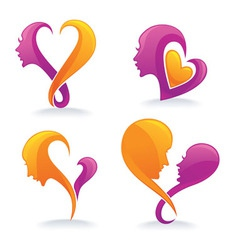 face like a heart vector image vector image