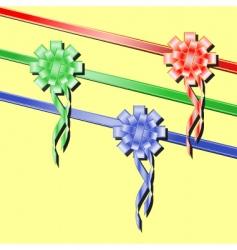 festive ribbons vector image