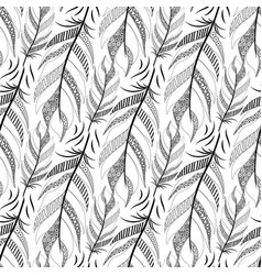 large black fluffy feathers diagonal pattern with vector image vector image
