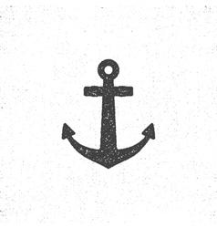 Retro anchor icon Stock of anchor icon vector image vector image