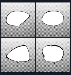 set of speech bubblegradient down up vector image vector image