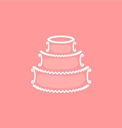Wedding cake logo vector image vector image