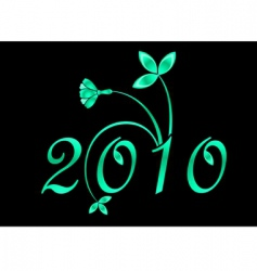 2010 year sign vector image