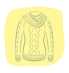 A realistic warm jumper or knitted sweater with a vector