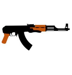 Assault rifle kalashnikov ak-47 machine gun vector
