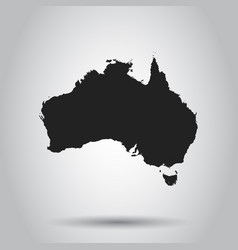 australia map icon flat australia sign symbol vector image