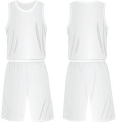 basketball shirt and shorts vector image