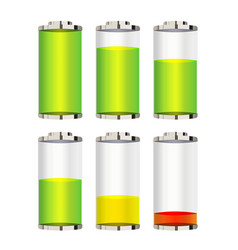 battery level on a white background vector image