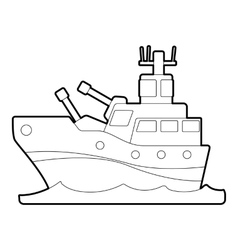 Battleship icon outline style vector