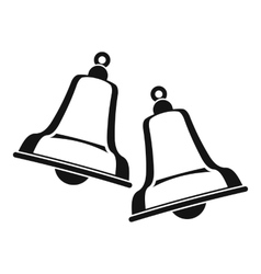 Bells icon simple style vector