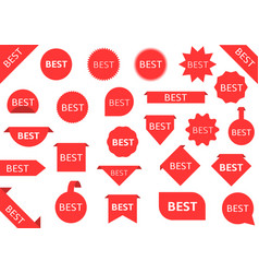 best red labels vector image