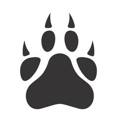 Big cat paw vector