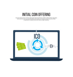bitcoin to dollar exchange ico cryptocurrency vector image