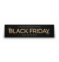 black friday sale elegant luxury 3d banner modern vector image