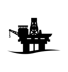black oil platform icon vector image