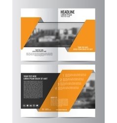 Brochure template can be used for magazine cover vector