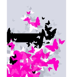 butterflies - abstract design vector image