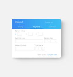 Checkout ui payment form interface vector