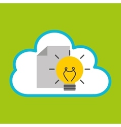 cloud computing idea document vector image