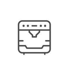 coffee machine line icon vector image