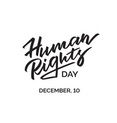 Concept morden inscription on human rights day vector