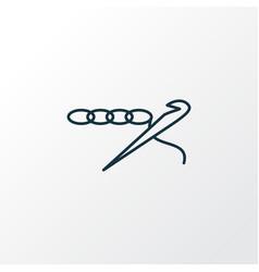 Crochet icon line symbol premium quality isolated vector