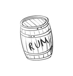 Doodle barrel of rum vector