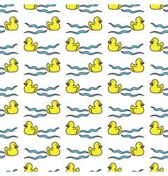 Ducks seamless pattern vector image
