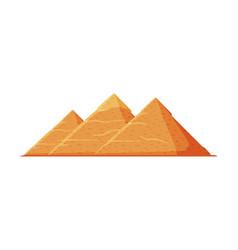 egyptian great pyramids symbol egypt flat vector image