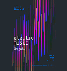Electronic music festival poster abstract line vector