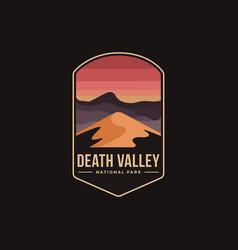 emblem patch logo death valley national park vector image