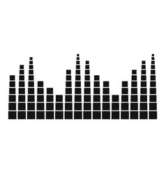 Equalizer level radio icon simple black style vector