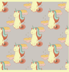 fairytale unicorn seamless pattern vector image