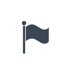flag related glyph icon vector image