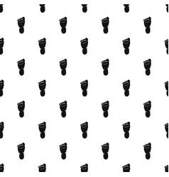 Foot left leg pattern vector