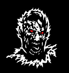 frenzy zombie head vector image