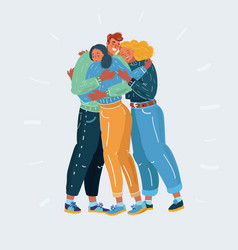 friends and teamwork concept people get together vector image