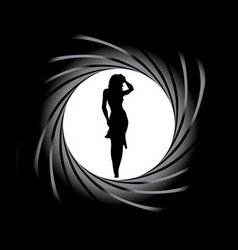 Girl in sights vector