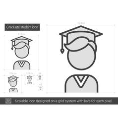 Graduate student line icon vector image