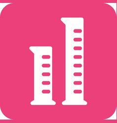 Graduated cylinders vector