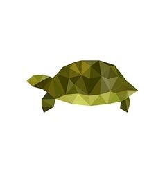 Green origami turtle vector