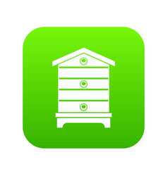 Hive icon digital green vector