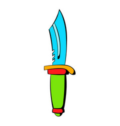 hunting knife icon icon cartoon vector image