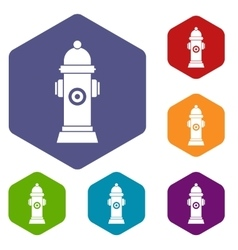 Hydrant icons set vector