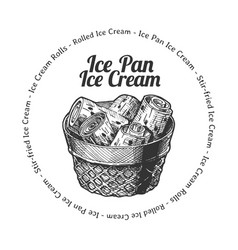 ice pan ice cream vector image