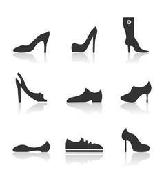 Icon footwear vector