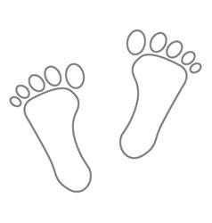 image of human footprints vector image vector image