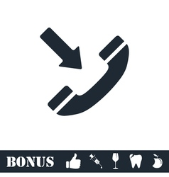 Incoming call icon flat vector
